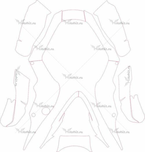 Комплект наклеек Suzuki LTZ-500-R
