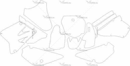 Комплект наклеек Suzuki RM-85 2001-2012 MOD-2