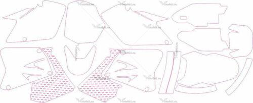 Комплект наклеек Suzuki RM-125-250 2001-2012