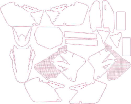 Комплект наклеек Suzuki RM-125-250 2014