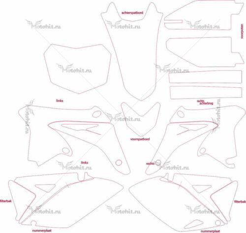 Комплект наклеек Suzuki RMZ-250 2010-2012 MOD-1