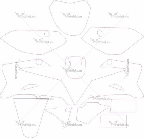 Комплект наклеек Yamaha TTR-110 2008-2012