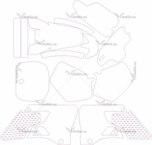 Комплект наклеек Yamaha YZ-125-250 1996-1999