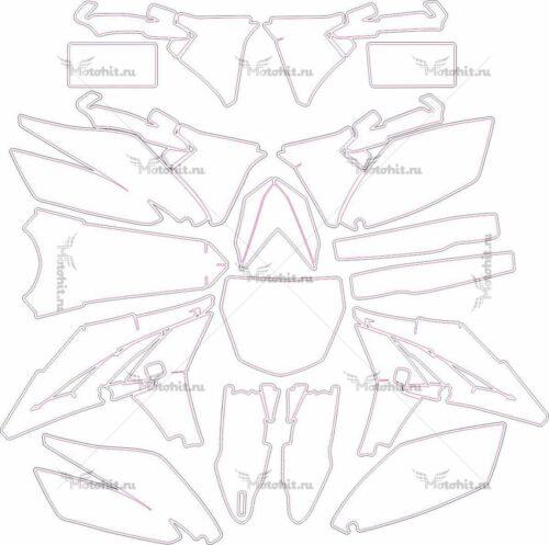 Комплект наклеек Yamaha YZF-250 2013