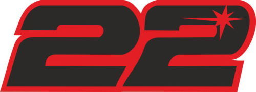 Наклейка на мотоцикл номер 22