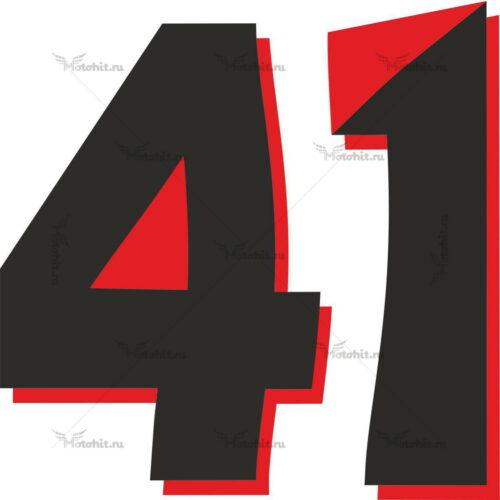 Наклейка на мотоцикл номер 41