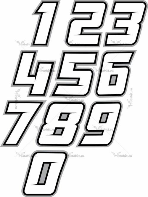 Наклейка на мотоцикл номер 123 FX