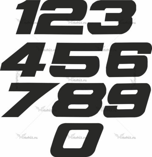 Наклейка на мотоцикл номер CISLA