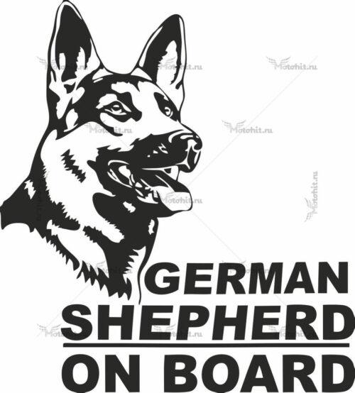 GERMAN SHEPARD ON BOARD