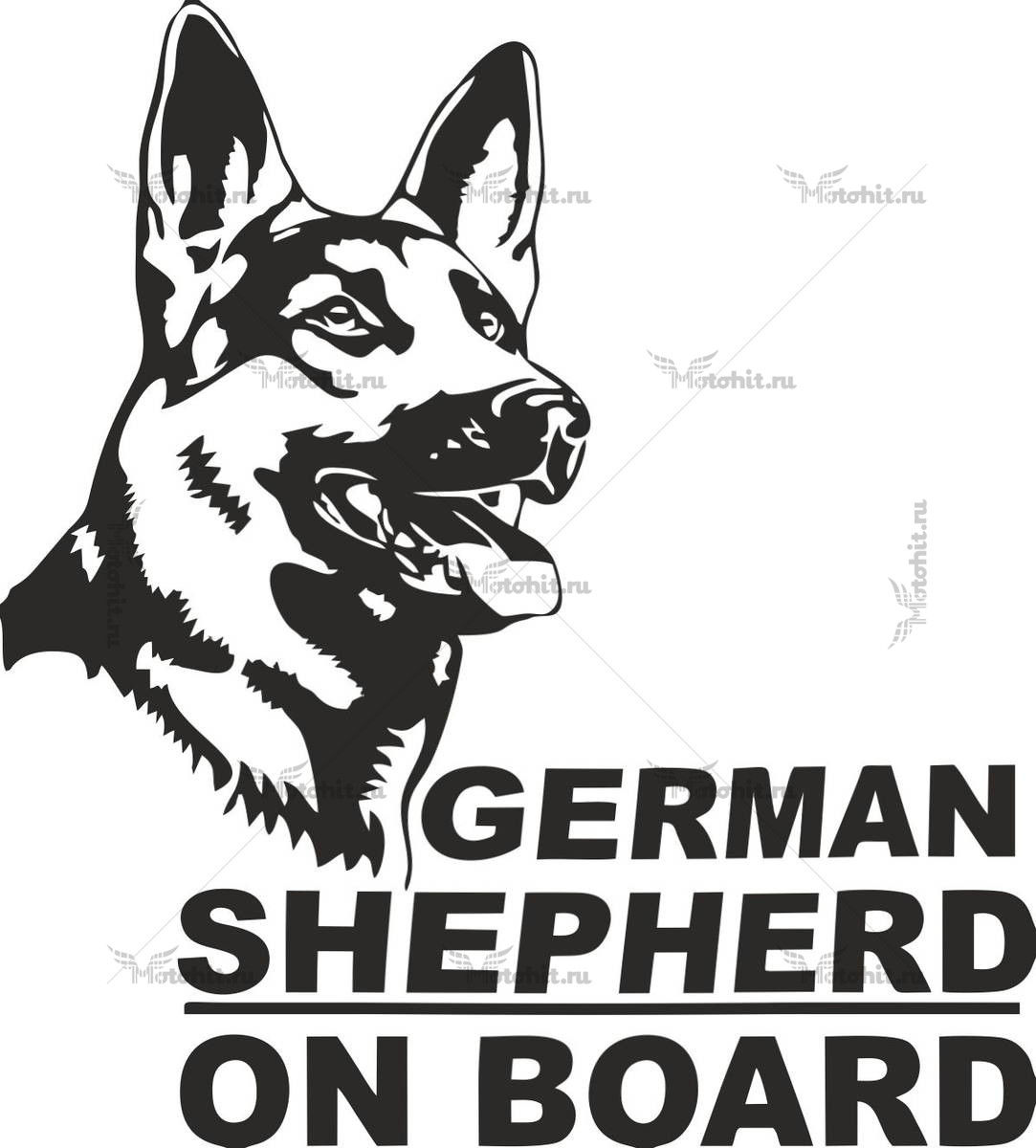 GERMAN SHEPARD ON BOARD