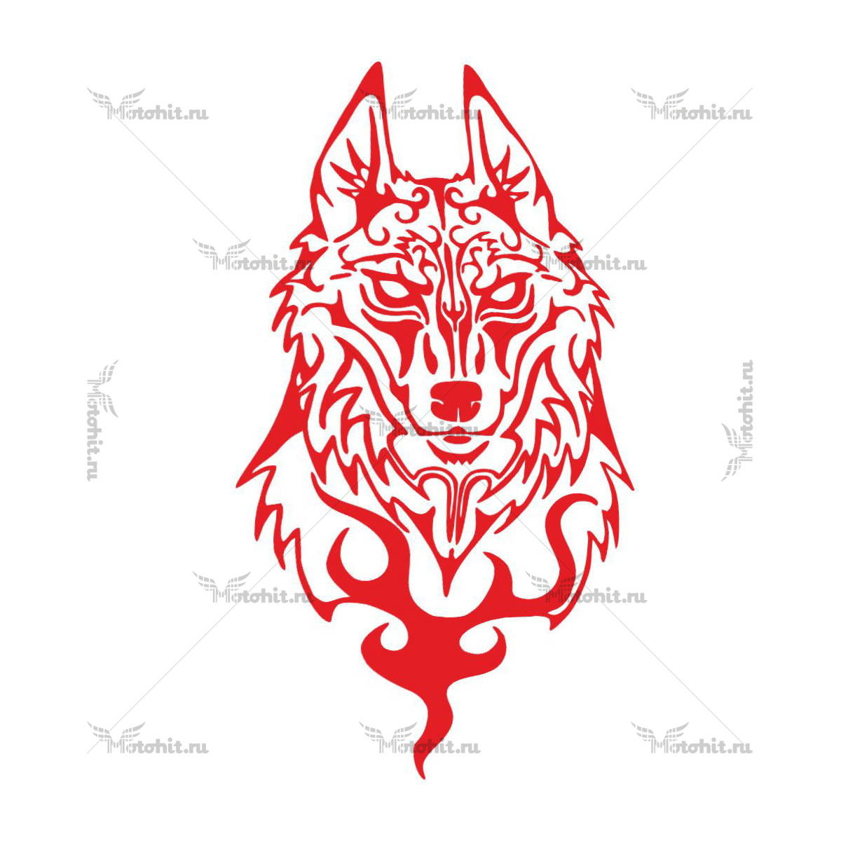 WOLF RED 10X5