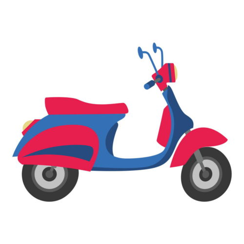 SCOOTER BLUE PINK