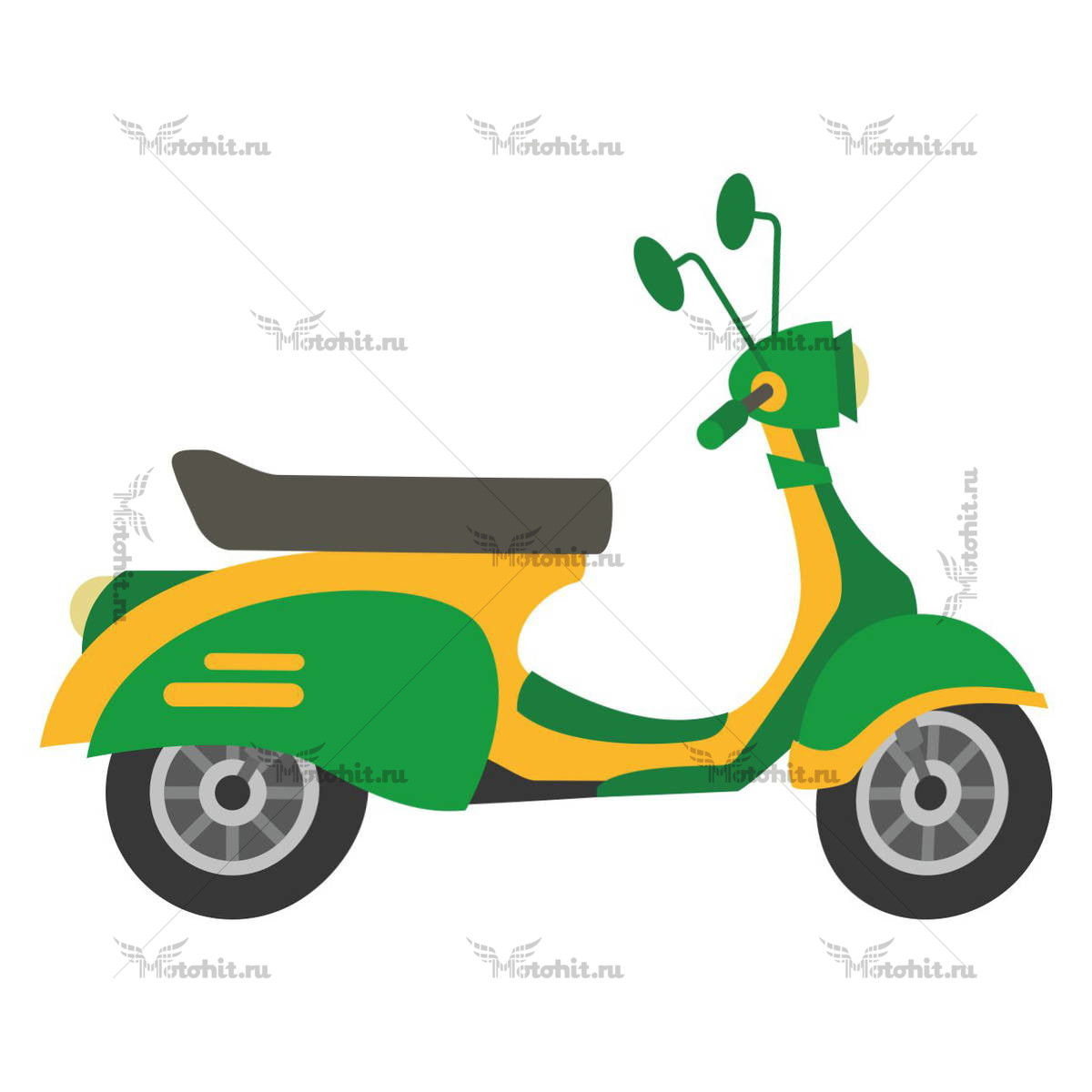 SCOOTER GREEN YELLOW
