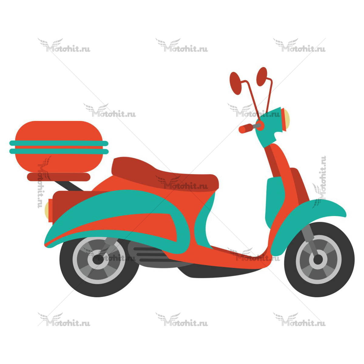 SCOOTER ORANGE CYAN
