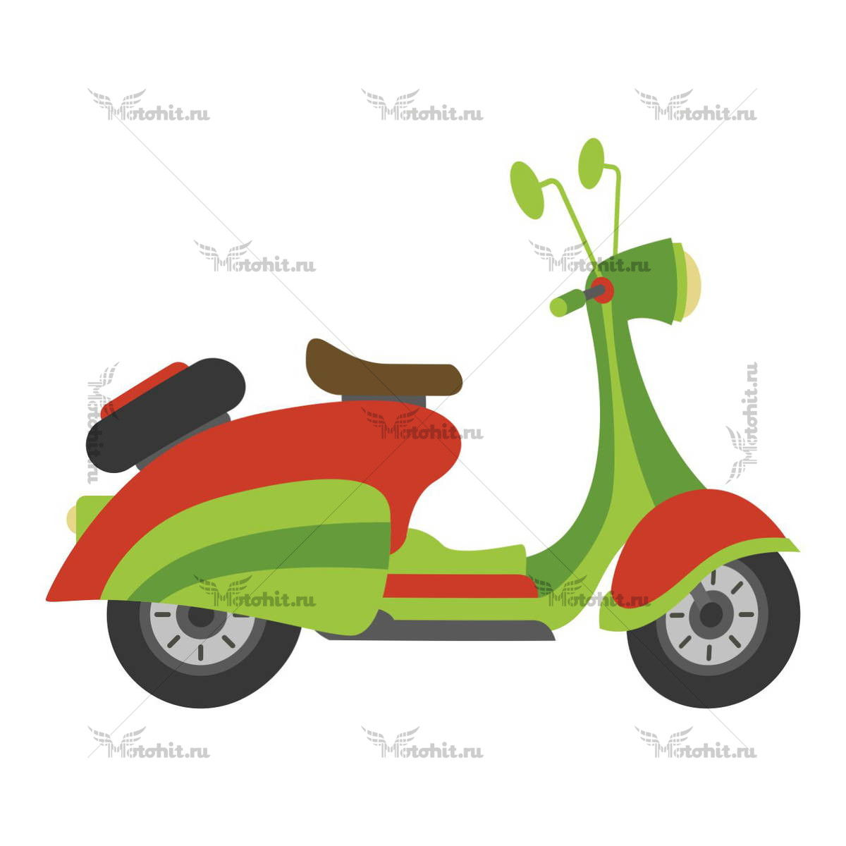 SCOOTER ORANGE GREEN