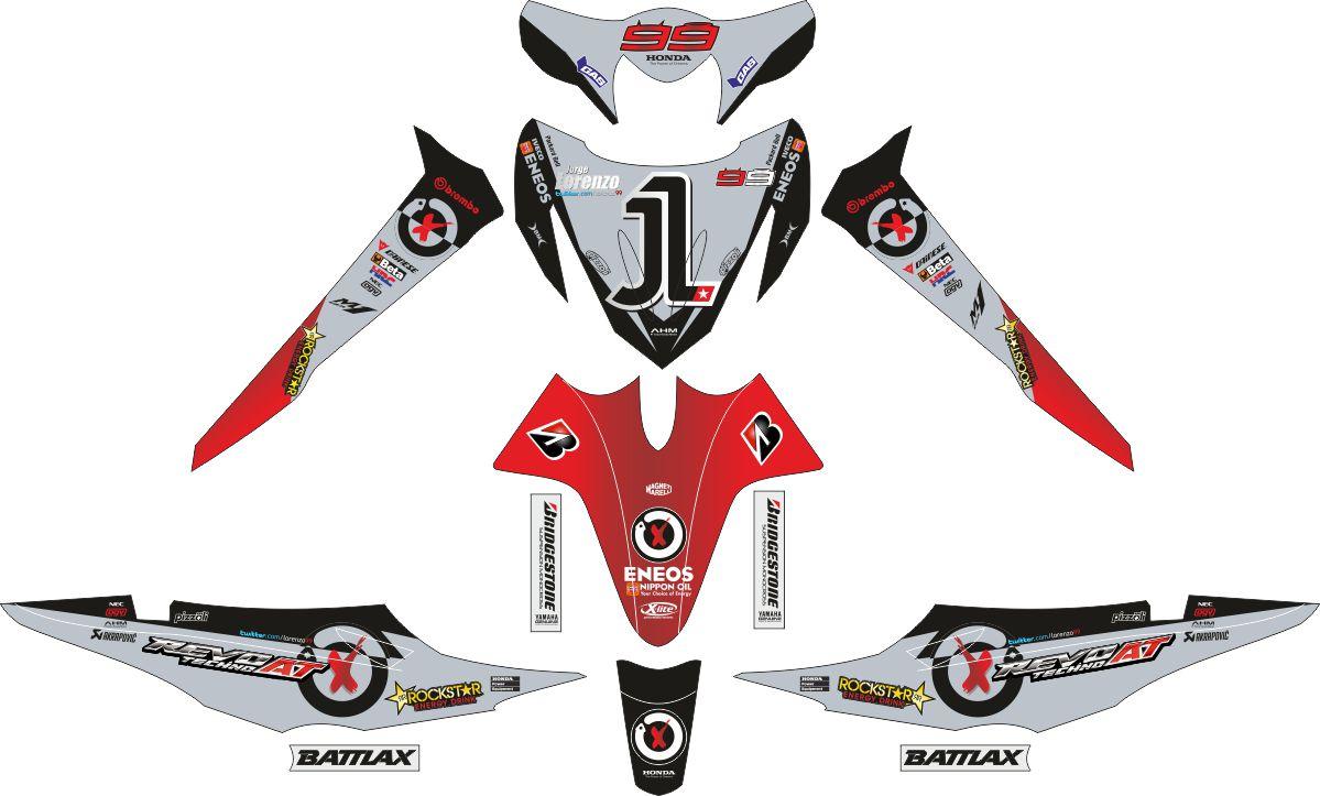 Комплект наклеек на скутер HONDA REVO LORENZO 2006