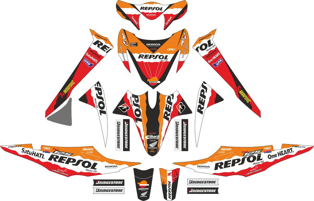 Комплект наклеек на скутер HONDA REVO REPSOL 2008
