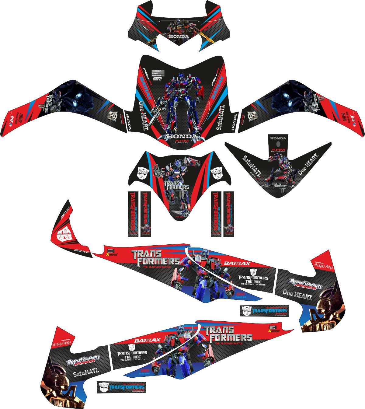 Комплект наклеек на скутер HONDA REVO TRANSFORMER OPTIMUS PRIME