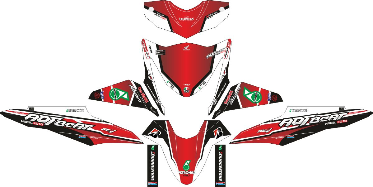 Комплект наклеек на скутер HONDA BEAT ADTBEAT