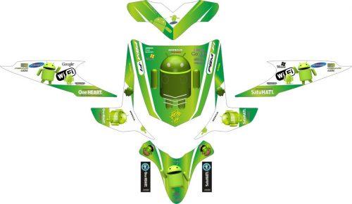 Комплект наклеек на скутер HONDA BEAT ANDROID