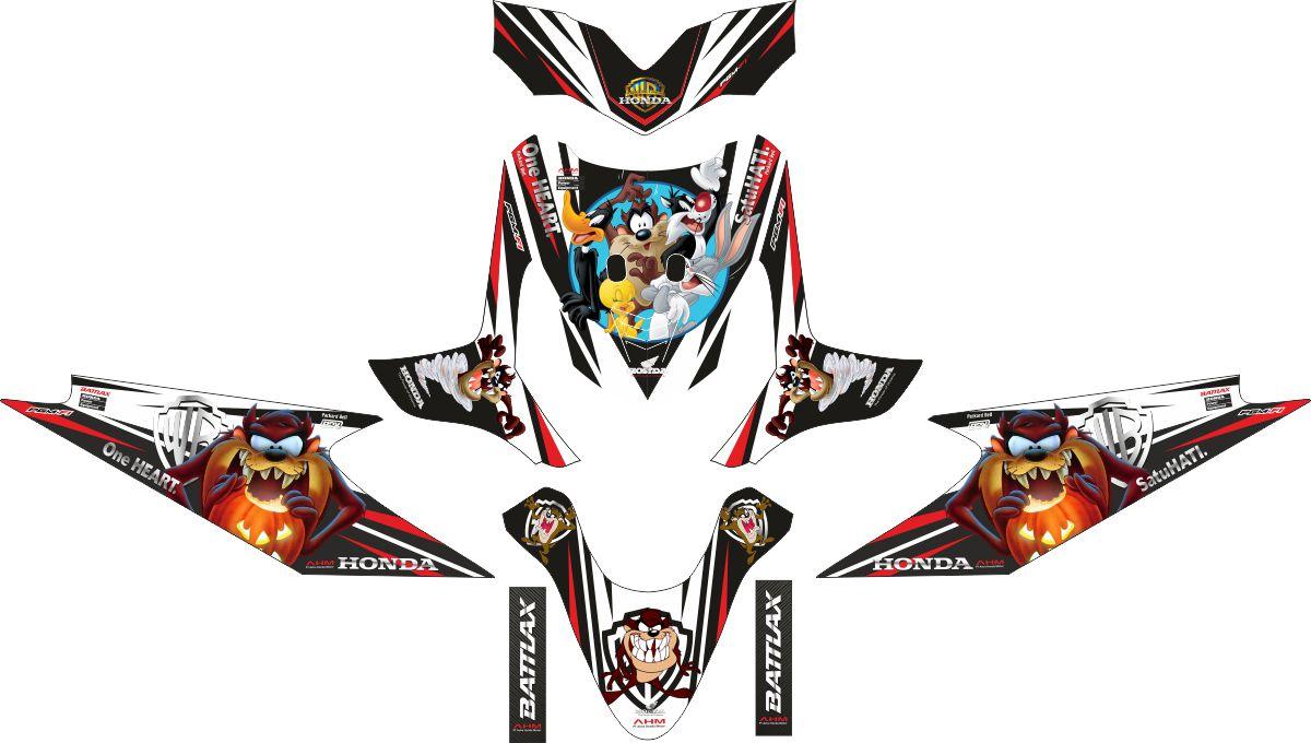 Комплект наклеек на скутер HONDA BEATAZMANIA