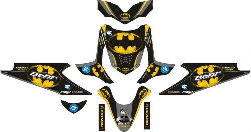 Комплект наклеек на скутер HONDA BEAT BATMAN KUNING LOGO