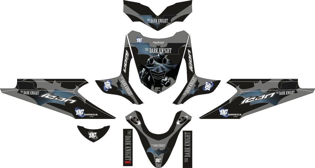 Комплект наклеек на скутер HONDA BEAT BATMAN THE DARK KNIGHT
