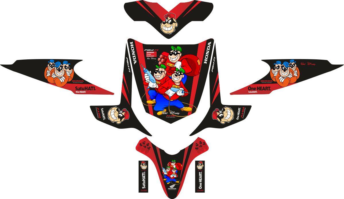Комплект наклеек на скутер HONDA BEAT BEAGLE BOYS