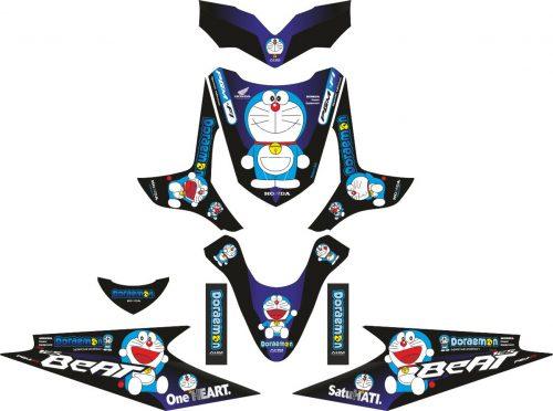 Комплект наклеек на скутер HONDA BEAT DORAEMON