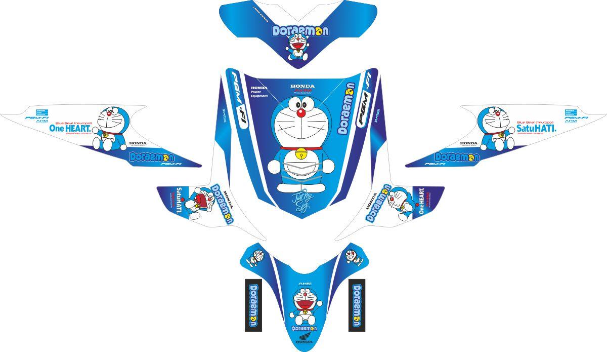 Комплект наклеек на скутер HONDA BEAT DORAEMON (2)
