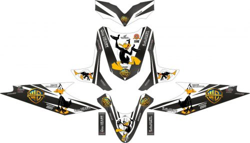 Комплект наклеек на скутер HONDA BEAT DUFFY DUCK