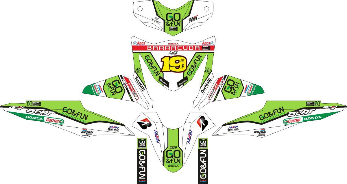 Комплект наклеек на скутер HONDA BEAT-FI ALVARO