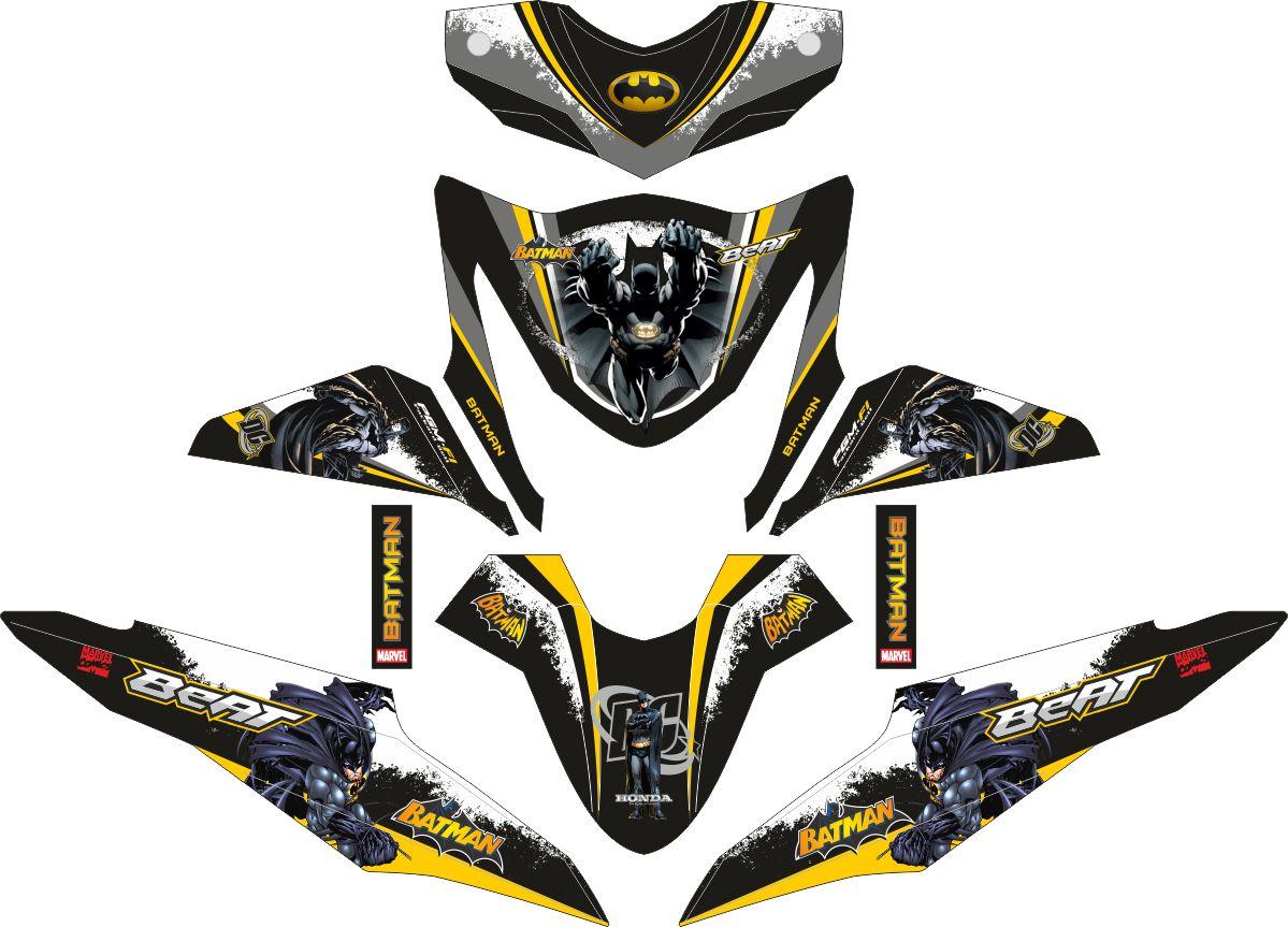 Комплект наклеек на скутер HONDA BEAT-FI BATMAN THE DARK KNIGHT