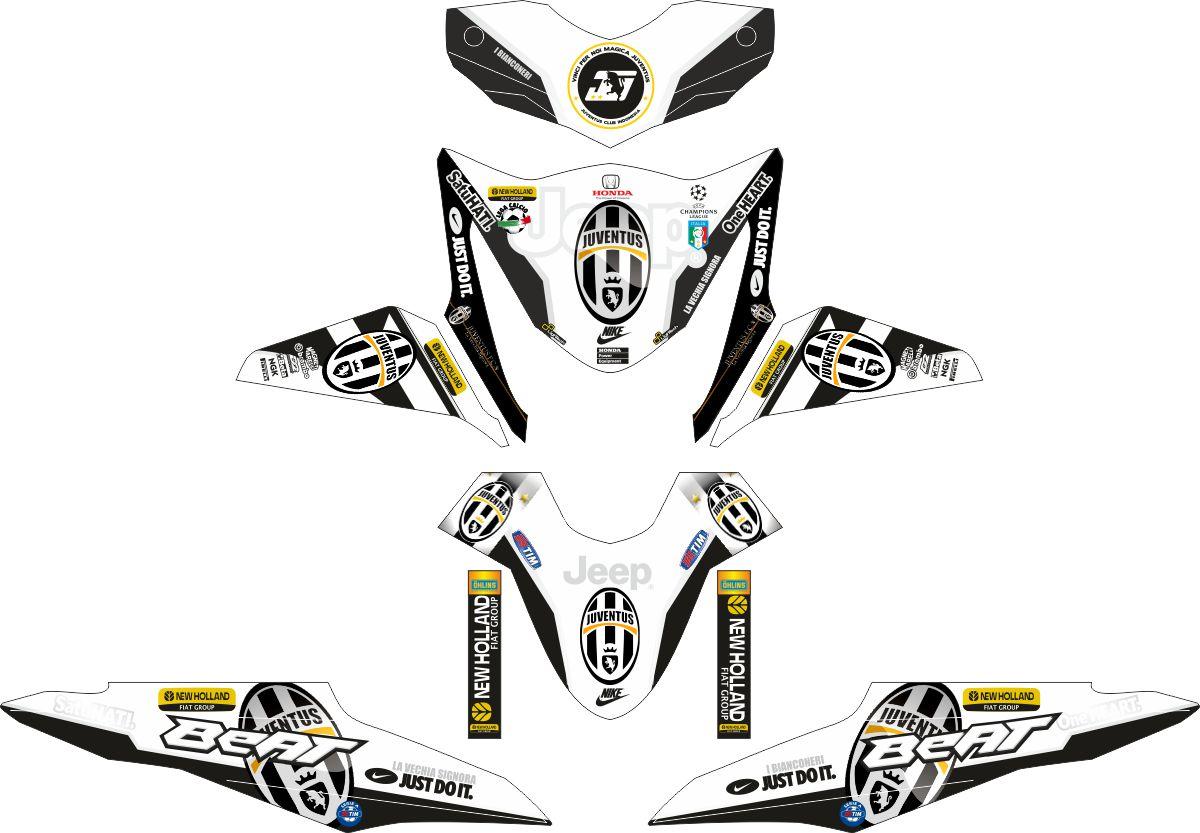 Комплект наклеек на скутер HONDA BEAT-FI JUVENTINI