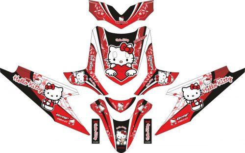 Комплект наклеек на скутер HONDA BEAT HELLO KITTY 2