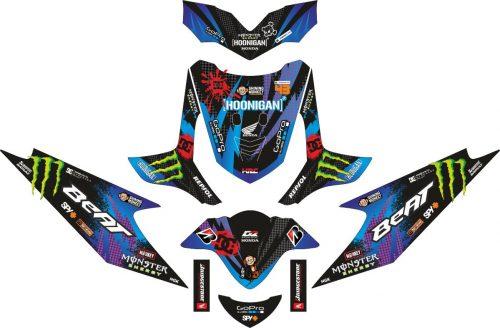 Комплект наклеек на скутер HONDA BEAT HOONIGAN 2009