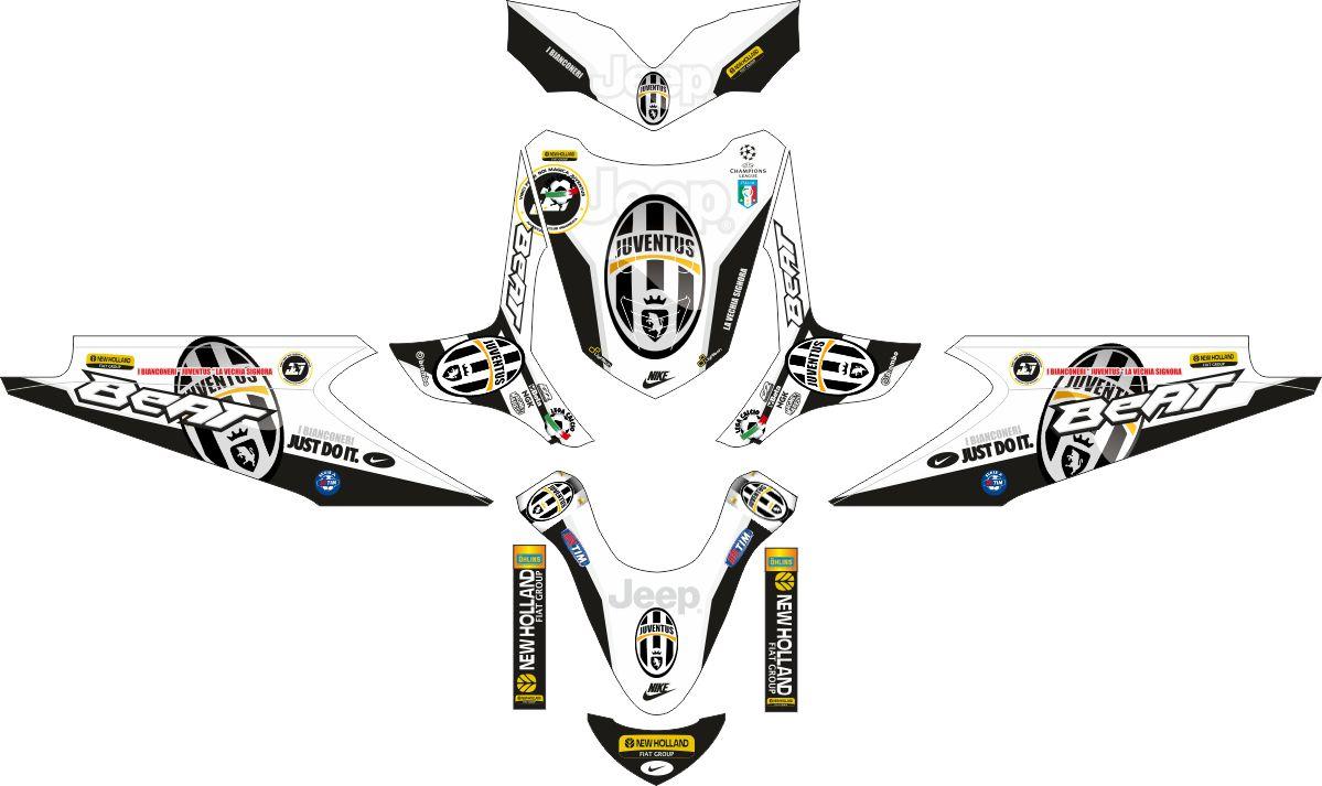Комплект наклеек на скутер HONDA BEAT JUVE FC 2011