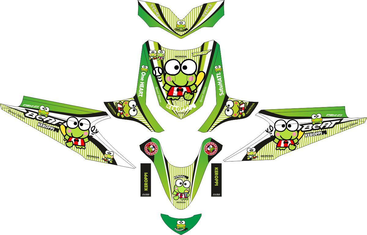 Комплект наклеек на скутер HONDA BEAT KEROPPI