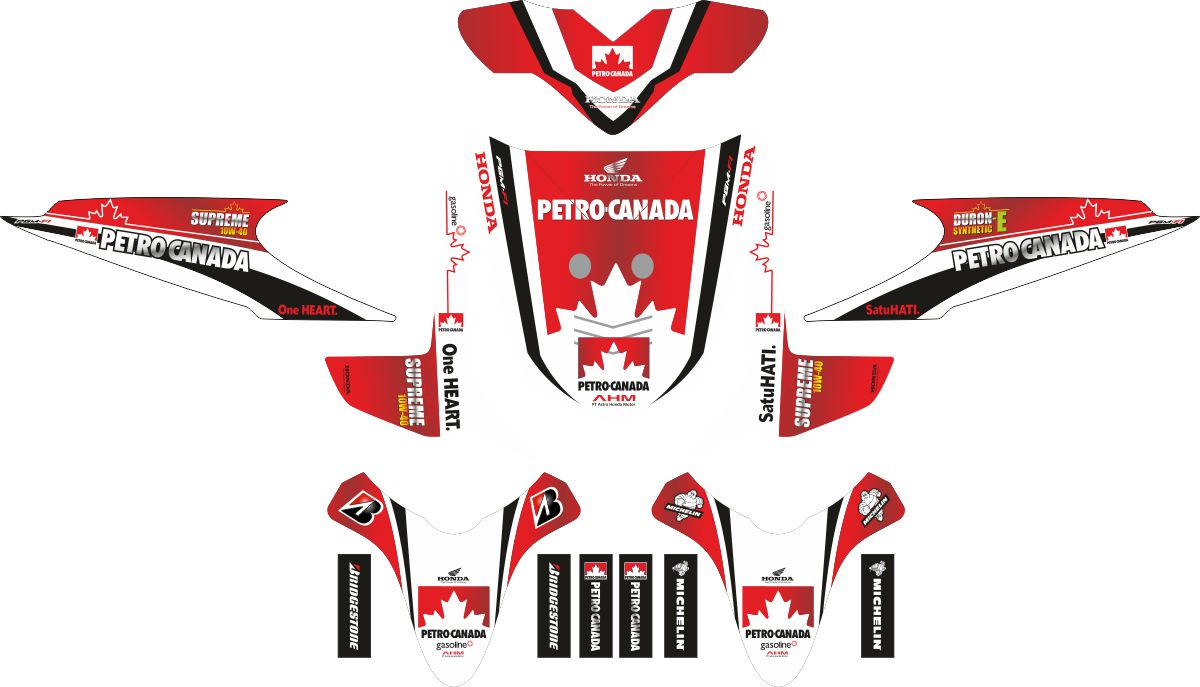 Комплект наклеек на скутер HONDA BEAT PETRO CANADA