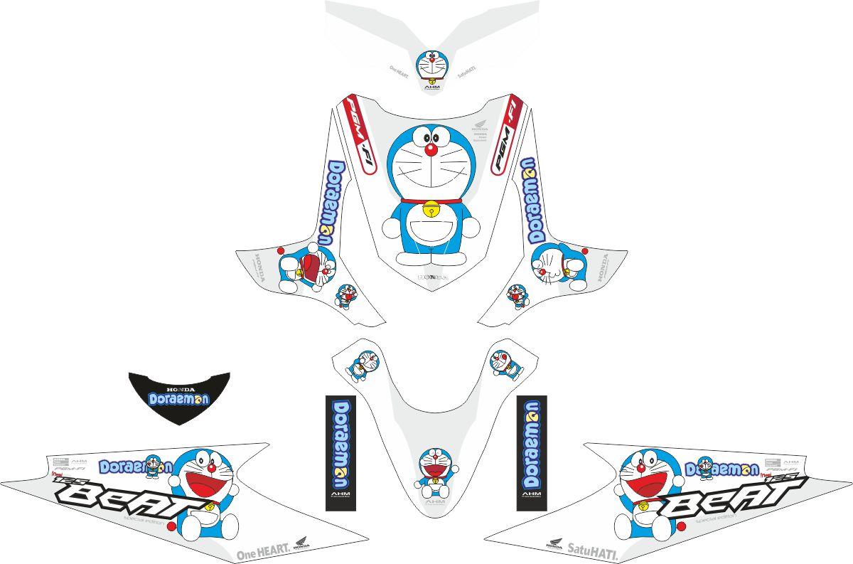 Комплект наклеек на скутер HONDA BEAT PUTIH DORAEMON 2009