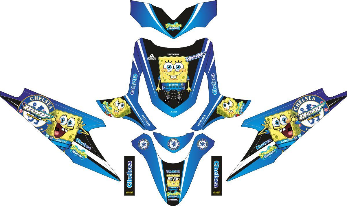 Комплект наклеек на скутер HONDA BEAT SPONGE CHELSEA