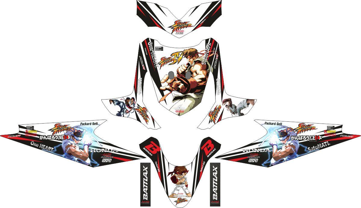 Комплект наклеек на скутер HONDA BEAT STREET FIGHTER