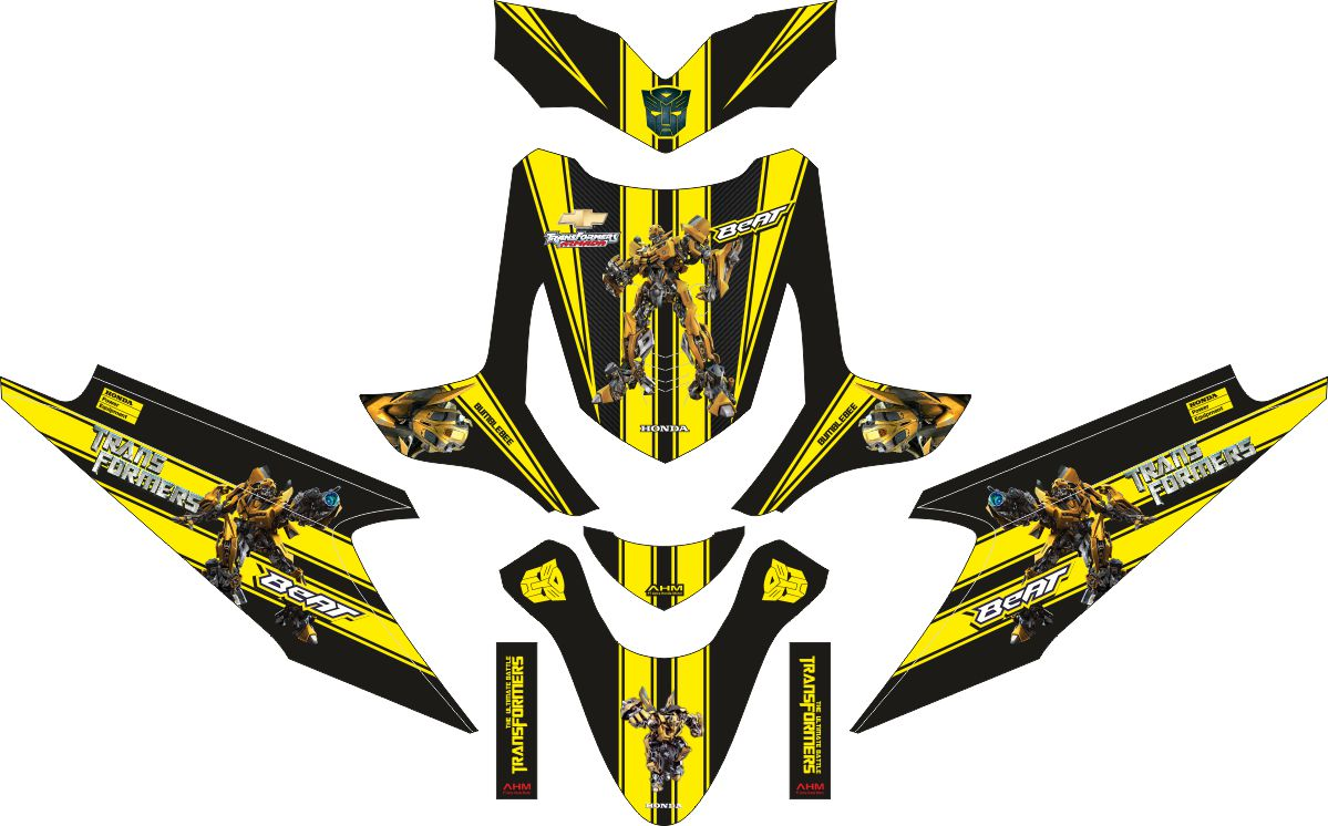 Комплект наклеек на скутер HONDA BEAT TRANSFORMER BUMBLEBEE