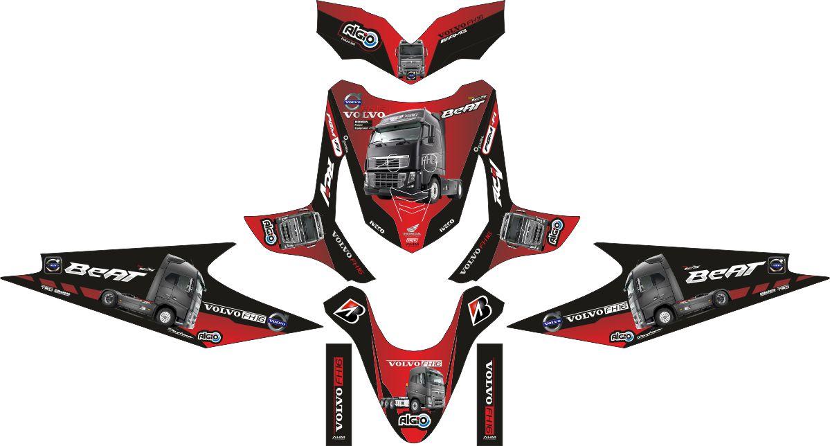 Комплект наклеек на скутер HONDA BEAT VOLVO 2010