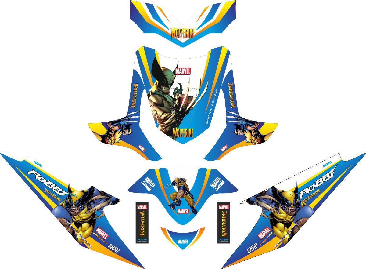 Комплект наклеек на скутер HONDA BEAT WOLVERINE 2009