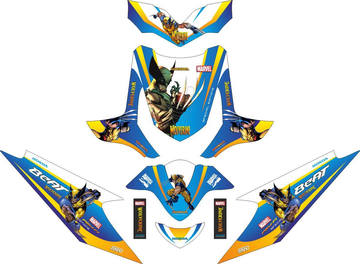 Комплект наклеек на скутер HONDA BEAT WOLVERINE 2009 2