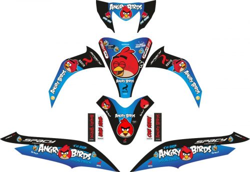 Комплект наклеек на скутер HONDA SPACY ANGRY BIRD