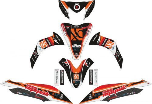 Комплект наклеек на скутер HONDA SPACY HITAM BNI 46