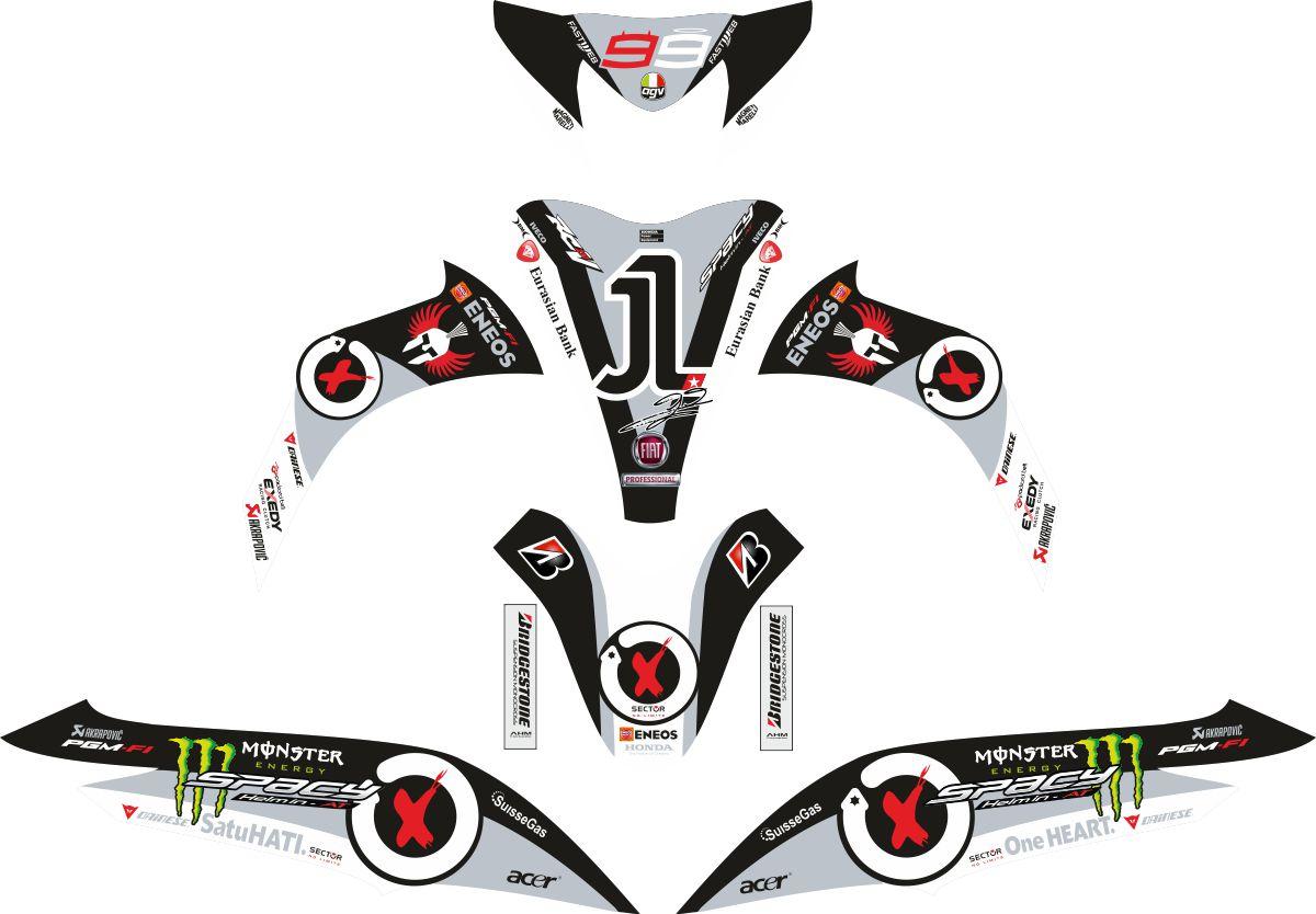 Комплект наклеек на скутер HONDA SPACY LORENZO