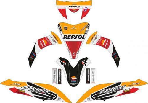 Комплект наклеек на скутер HONDA SPACY REPSOL 2013